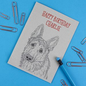 German Shepherd Dog Birthday Card - birthday cards