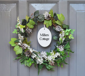 Evergreen Personalised Christmas Wreath