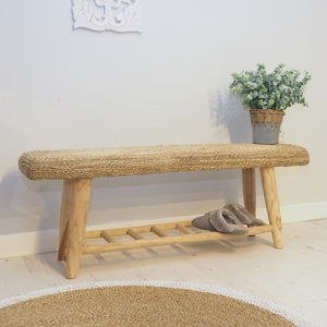Wooden Bench With Shelving