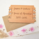 Personalised Anniversary Keepsake Card