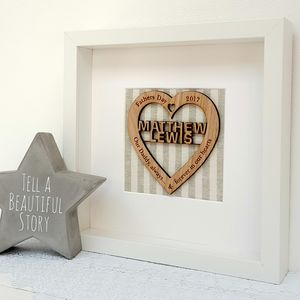 Our Daddy Personalised Oak Heart