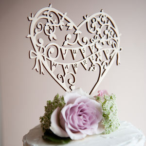 Wedding Cake Topper Wooden Garden Party