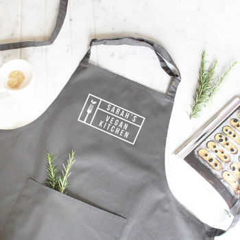 Personalised 'Vegan Kitchen' Apron
