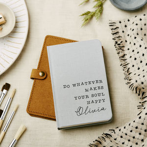 Whatever Make Your Soul Happy Notebook Personalised - a new chapter begins