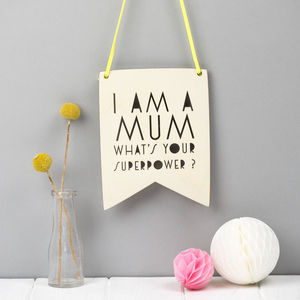 Mother's Day Wall Pennant Gift - mum loves home sweet home