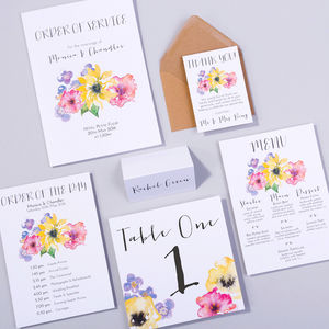 Table Plan, Number, Place Card, Menu : Spring Sonata - table plans