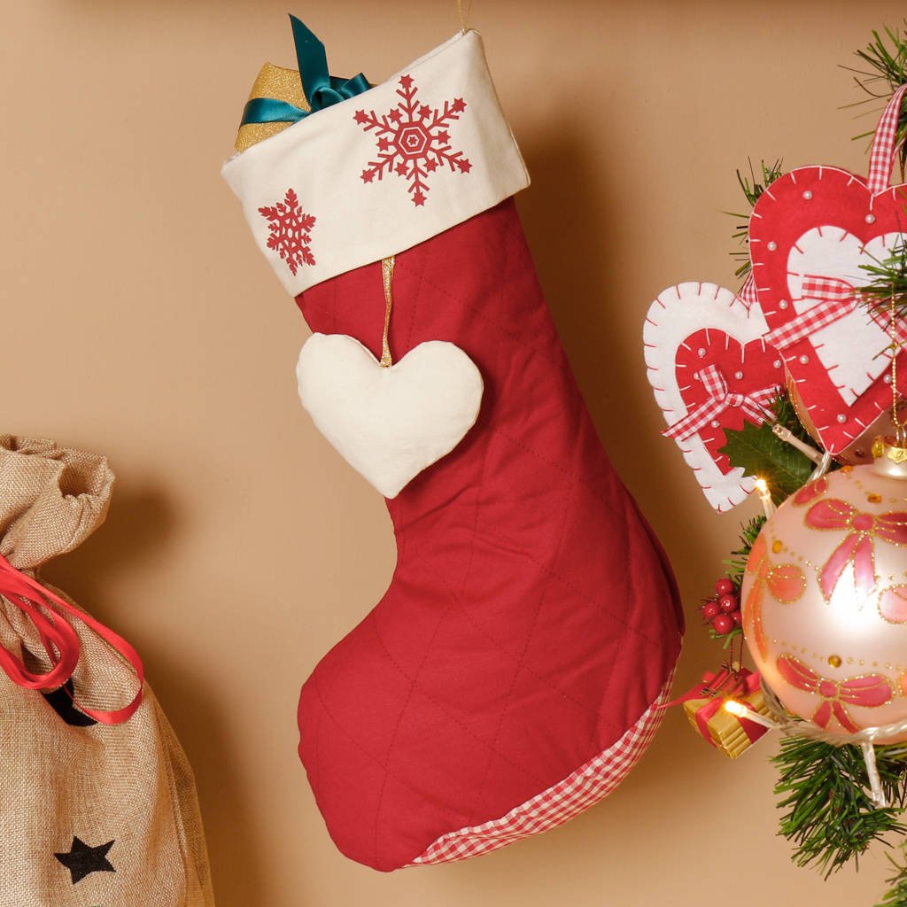 personalised set of two country christmas stockings by dibor