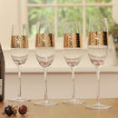 Gold Entertaining Champagne Flutes