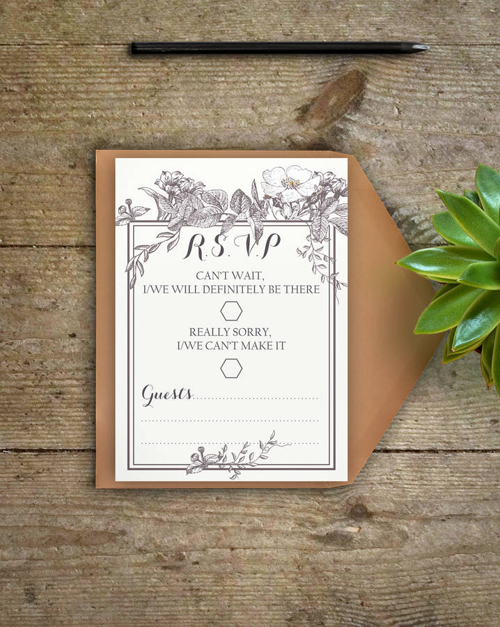 wedding invitations map%0A Botanical Wedding Invitations