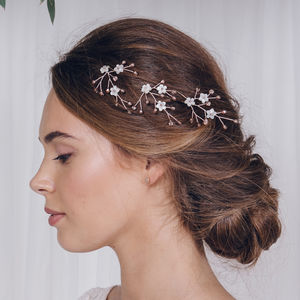 Flower Wedding Hairpins Coralie - bridal hairpieces
