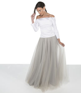 Tulle Wedding Skirt / Grey Tulle Wedding Skirt - skirts & shorts