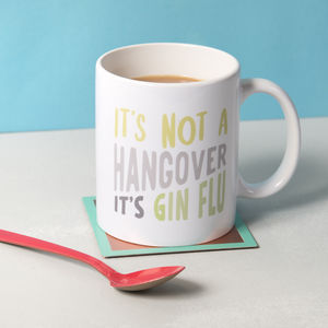'Gin Flu' Ceramic Mug - shop by personality