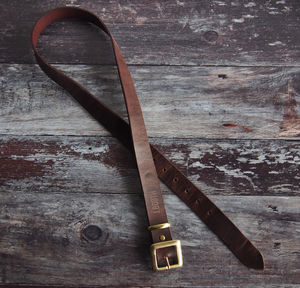 Custom Name Leather Belt - men's accessories