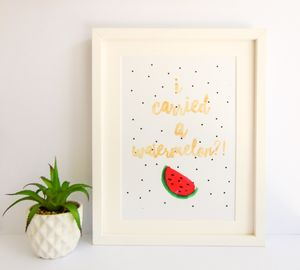 'I Carried A Watermelon?!' Dirty Dancing Giclee Print