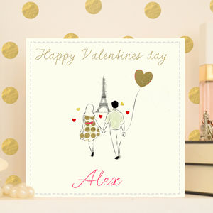 Personalised Valentine's Card 'Paris' - anniversary cards