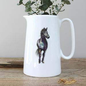 Horse One Pint Fine Bone China Jug - dining room