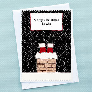 'Santa' Personalised Childrens Christmas Card - cards & wrap