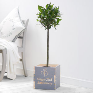 Personalised Anniversary Wooden Planter - pots & planters