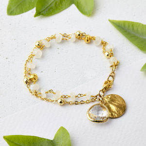 Moonstone June Birthstone Bracelet - jewellery