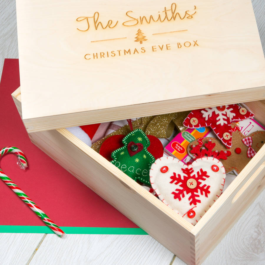 personalised large christmas eve box for family by dust ...