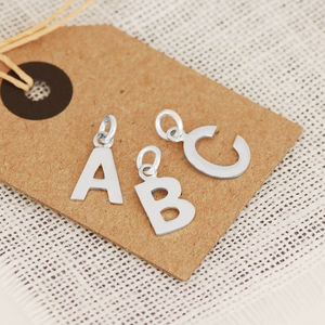 Silver Initial Charm - charm jewellery