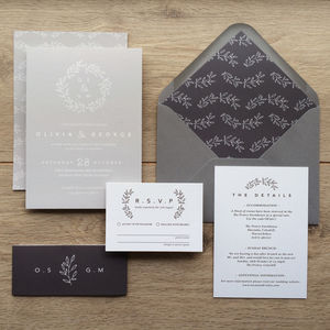 Laurel Wedding Invitations - rustic wedding