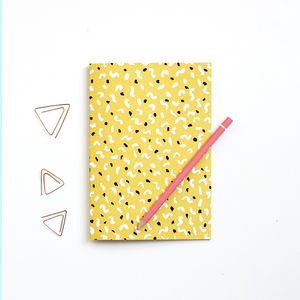 A5 Patterned Notebook Dancing Shapes