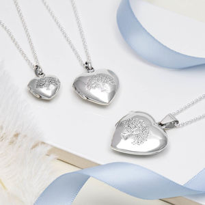 Sterling Silver Tree Heart Locket - necklaces & pendants