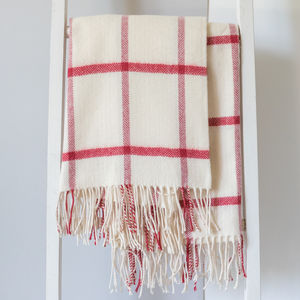 Fine Lambswool Windowpane Throws - decorative accessories