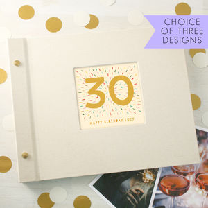 Personalised 30th Birthday Photo Album - albums & guest books