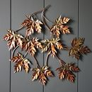 Copper Maple Leaf Wall Art