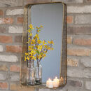 Portofino Ornate Distressed Wall Mirror And Shelf