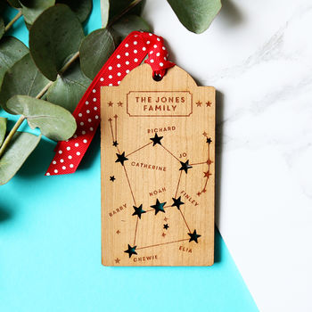 Family Constellation Christmas Tag Decoration