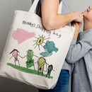 Personalised Bag With Child's Drawing