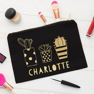 Personalised Cactus Make Up Bag - make-up & wash bags
