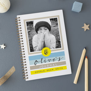 Personalised Kids Journal With Photo