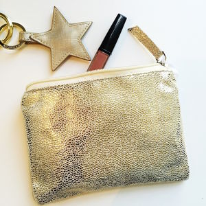 Metallic Shimmer Pouch - make-up bags