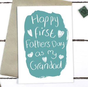First Father's Day As My Grandad Card