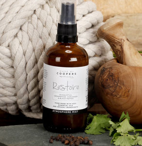 Eucalyptus, Cedarwood, Coriander Restore Mist - gifts for the health conscious