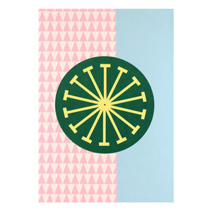 'Day One' Mid Century Modern Screen Printed Wall Art - posters & prints