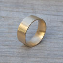 Personalised Comfort Fit Wedding Band In Yellow Gold