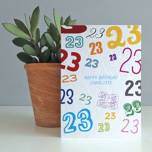 'Age Is Just A Number' Personalised Birthday Card