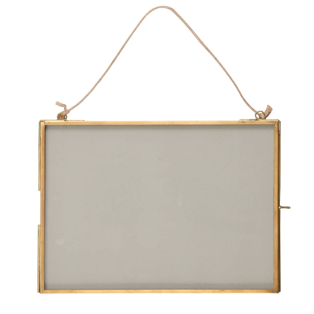 Hanging Brass Photo Frame By Idyll Home