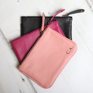 Personalised Leather Coin Purse - birthday gifts