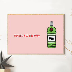 Gingle Alll The Way Christmas Art Print