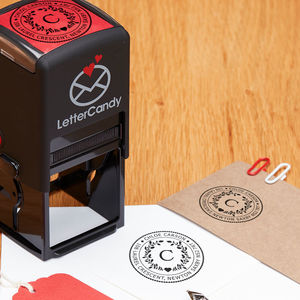 Personalised Laurel And Hearty Stamp