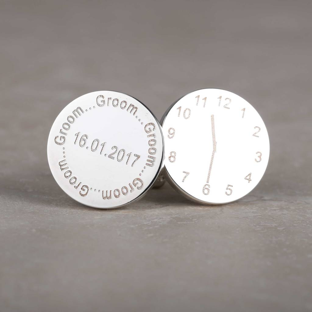 Personalised Wedding Cufflinks For The Groom