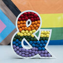 'Pride' Rainbow Wooden Felt Ball Letters