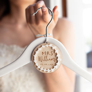Personalised Bridal Hanger Charm - wedding thank you gifts