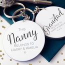 This Nan And Grandad Belongs To… Personalised Keyrings